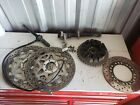 1997 97 YAMAHA YZF750 YZF750R FRONT REAR BRAKE DISC ROTOR SPROCKET AXLES SPACER