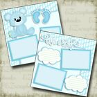 ITS A BOY BEAR 2 Premade Scrapbook Pages EZ Layout 3806