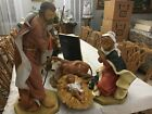 FONTANINI 27 INCHES ITALIAN NATIVITY JESUS MARY JOSEPH AND OX FIGURINES