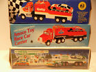 3 Vintage 1991 Hess, 1995 Getty & Amoco Toy Trucks Friction Racer Cars NOS