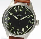Laco AUGSBURG 39 mm Black Dial automatic-winding Leather Belt Men's Watch UNUSED