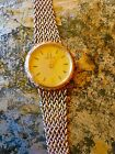 AUTH OMEGA 14K SOLID GOLD BRACELET WRIST WATCH BAND NOT SCRAP VINTAGE 50s 60s