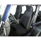 Rugged Ridge 1324201 Black Fabric Front Seat Cover Kit for 76 90 Jeep CJ 5
