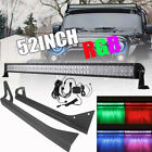 52 Inch 1000W Led Light Bar + Mounting Bracket Fit For Jeep Wrangler YJ 87-95 50