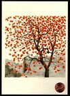 Persimmon Tree Orange Fruit Branches Large Blank Greeting Note Card NEW