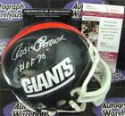 Rosey Brown signed mini helmet inscribed HOF 76 (New York Giants Rosie) JSA