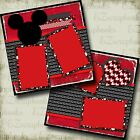 LOVE MICKEY Disney 2 Premade Scrapbook Pages EZ Layout 3858
