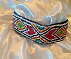 Wide Hand Beaded Colorful Native American Indian Headband