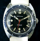 100% Authentic Vintage 1960's Waltham 1802 Skin Diver 17 J Stainless Steel Watch