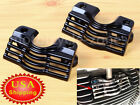 Black Spark Slotted Plug Head Bolt Covers For Harley Touring Road King FLHX T US