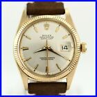 RARE EARLY VINTAGE ROLEX OYSTER DATEJUST 1601 NON QUICK 18K SOLID GOLD MEN WATCH