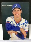 VERY RARE DALE MURPHY AUTOGRAPHED 1986 CUNNINGHAM BRODER PHOTO CARD