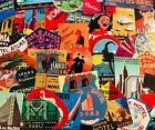 Vintage Travel Stickers Hotels European China Exotic Old Scrapbook Sticker