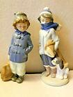Lot of (2) Lladro 5220 Boy with Dog & Nao Boy with bag