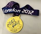 MICHAEL PHELPS SIGNED 2012 LONDON OLYMPICS GOLD MEDAL USA 23x SWIMMER AUTO+COA!