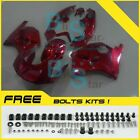 Red Glossy Fairing Bodywork Plastic Kit fit Kawasaki ZXR250 1991-1998 2 D6