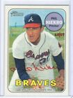 2018 Topps Heritage Real One Auto Red Ink 69 Phil Niekro - Braves