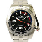 Authentic Dior Chiffre Rouge Wrist Watch Men Automatic At Black Silver Stainless