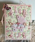Scrapbooking Baby Book Mini Album Handmade using First Edition Its A Girl