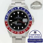 RARE Rolex GMT-Master Pepsi Blue Red Stainless Steel 16700 Date Watch G8 16710