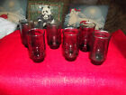 Vintage mid century smoke glasses-juice size-set of 6