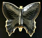 Vintage Jeannette Glass Gold Trimmed Butterfly Candy Dish/Trinket Dish