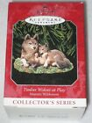 TIMBER WOLVES AT PLAY HALLMARK KEEPSAKE ORNAMENT #2 MAJESTIC WILDERNESS 1998