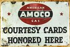US Seller- american Amoco gas tin metal sign home decor department stores