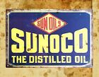 home accessories stores Sunoco the distilled oil tin metal sign