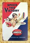 US Seller- Speed The Victory Amoco tin metal sign cafe  pub metal wall decor