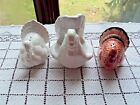 Salt and Peppers Shakers and Holder Thanksgiving Turkeys 3 Total Pieces Used