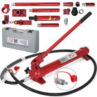 10 Ton Porta Power Hydraulic Jack Body Frame 2M Hose Portable Industrial level