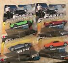 FAST AND FURIOUS MOVIE RACE CARS MATTEL WHEELS NEW LOT OF 4 FAST SHIPPING