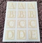 CREATIVE MEMORIES ABC LARGE ORNATE LASER LETTERS STICKERS 5 PAGES