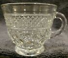 1 MINT COFFEE CUP ONLY, NO SAUCER  Anchor Hocking Glass Clear Crystal Wexford