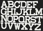 WHITE 2 Alphabet Letters your choice Iron on Applique Embroidered Patch