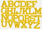 YELLOW 2 Alphabet Letters your choice Iron on Applique Embroidered Patch