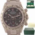 2008 Rolex Daytona Cosmograph 116509 Black Racing Dial 18k White Gold Watch A9