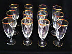 Set of 12 Gold Rim Water or Pilsner Glasses Circa 1925