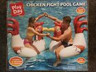 Inflatable Chicken Fight Ride On Swimming Pool Float Party Summer Toy 2 Pack NIB