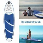 Inflatable 118 Stand Up Paddle Board Thicken Surfboard Play with Kids Blue