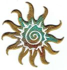 Iron On Applique Embroidered Patch Southwest Style Tribal Sun