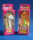 PEZ Candy Dispenser Fuzzy Friends Brutus Bulldog TJ Bear Backpack Clip Jointed