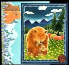Grizzly Bear Flowers Mountains River Sky SMALL Blank Greeting Note Card NEW