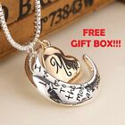 I Love You To The Moon  Back Mom Necklace  Pendant Mothers Day Bday Best Gifts