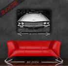 Vintage Classic Muscle Car Vintage BlackWhite Cadillac 24x36 HD Poster Print