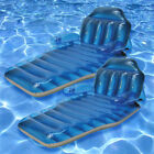 Poolmaster Swimming Pool 80L x 37W Adjustable Chaise Lounge Float 2 Pack