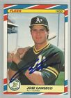 JOSE CANSECO 1988 Fleer Superstars AUTOGRAPH Signed