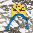 Shopkins Girls Knit Hat Kooky Cookie Yellow Blue Child's One Size Fits Most