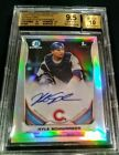 2014 Bowman Chrome Draft Pick Auto Kyle Schwarber Refractor BGS 9.5 10 Cubs RC